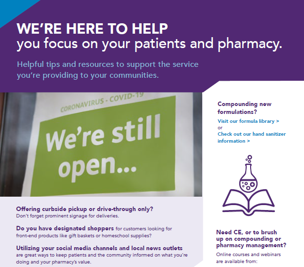 WE'RE HERE TO HELP you focus on your patients and pharmacy.
